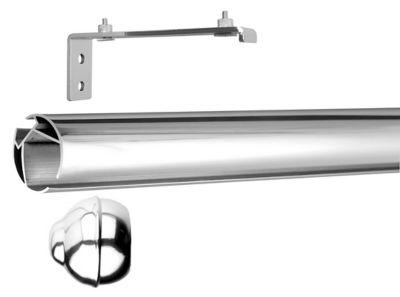 Kit Trilho Redondo com Suporte Alongado 28mm 200 cm Cromado