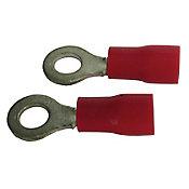 Terminal Anel Vermelho Para Fio/Cabo 0,5-1,5Mm2 Com 5 Peças