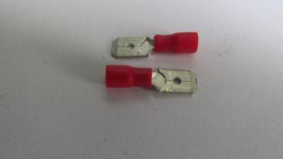 Terminal Fêmea Vermelho Para Fio/Cabo 1,5-2,5Mm2 Com 5 Peças