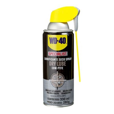 Óleo Lubrificante Seco WD-40 Specialist Spray Dry Lube 400ml Prata