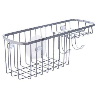 Organizador de Banheiro com Ventosa Cromado