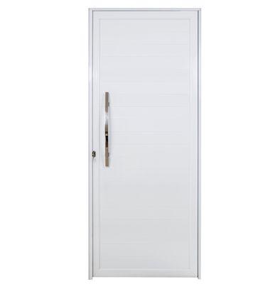 Porta Lambri Puxador Alumínio Branco Direita 215x90x6cm Boldie