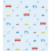 Papel de Parede Transportes Azul