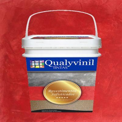 Qualyvinil Revestimentos Especiais 5kg - Efeito Marmorizado Ruby