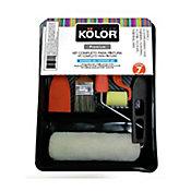 Kit Completo para Pintura Esmalte, Acrílica e Látex 7 Peças Kolor Preto