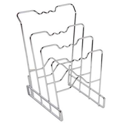 Organizador de Frigideira e Tampas Cromado 31x21,6x26cm