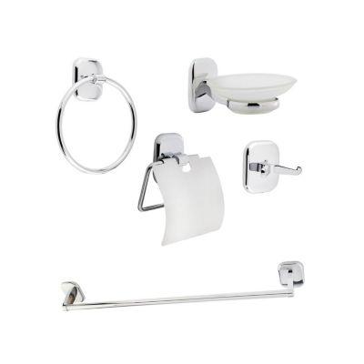 Kit Banheiro 5 Peças Cromado
