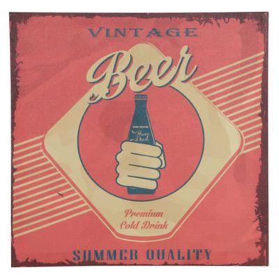 Placa Decorativa Cerveja 30x30cm Vermelho