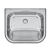 Tanque de Parede Aço Inox Polido, Inox, 50x40