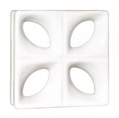 Tijolo Vazado Esmaltado Folha 24,5x24,5cm Branco