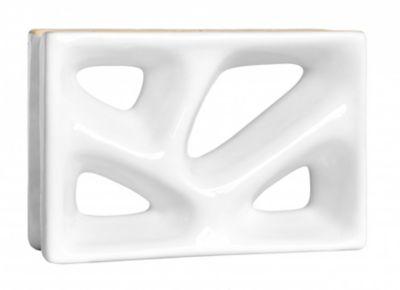 Tijolo Vazado Esmaltado Rama 23x16,8cm 25 peças Branco
