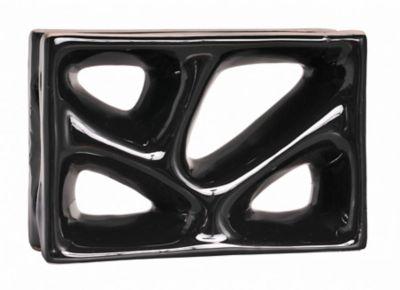 Tijolo Vazado Esmaltado Rama 23x16,8cm 25 peças Preto
