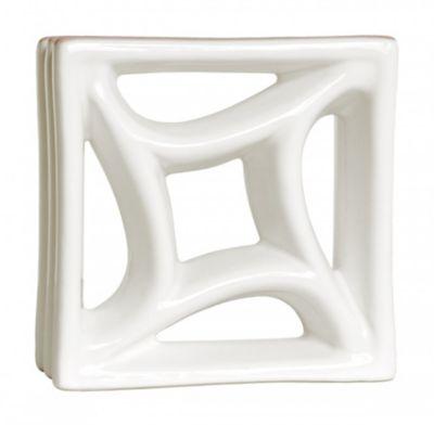 Tijolo Vazado Esmaltado Estrela 18,5x18,5cm Branco