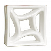 Tijolo Vazado Esmaltado Estrela 18,5x18,5cm 25 peças Branco