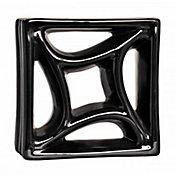 Tijolo Vazado Esmaltado Estrela 18,5x18,5cm 25 peças Preto