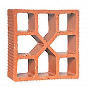 Tijolo Vazado Reto Xis 18x18x6,8cm