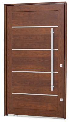 Porta Pivotante e Friso Alumínio Cerejeira Esquerda 223,5x126,2x12cm Aluminium