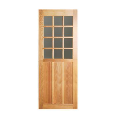 Folha de Porta Madeira Macica Tauari Natual 210x80x3,5cm Veneza Wood Glass