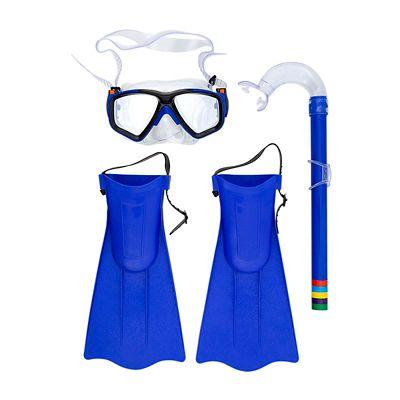 Kit de Mergulho Snorkel com Mascara e Nadadeiras Infantil Sortido