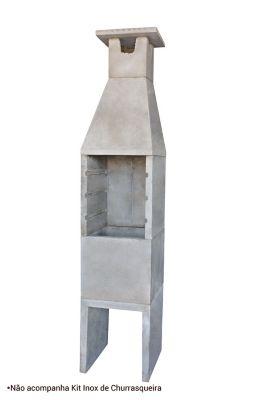 Churrasqueira Lisa, Concreto, 45x50x228cm