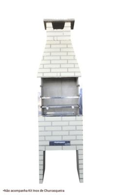 Churrasqueira Pintada Plh, Concreto, 75x55x228cm