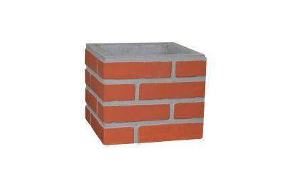 Duto Pintado, Concreto, Vermelho, 30x30x25cm