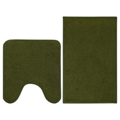 Conjunto 2 Tapetes De Banheiro, Verde