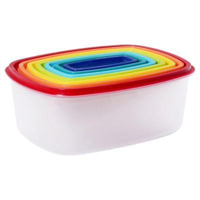 Conjunto Potes Rainbow, Colorido 7 Peças