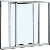 Janela de Correr Aluminio 2 folhas móveis sem Grade 100x120x6,4cm Vidro Liso Branco Alumifort