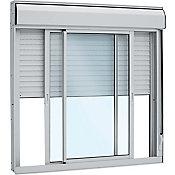 Janela Integrada Manual de Alumínio Vidro Liso 120x150cm Branco Alumifort