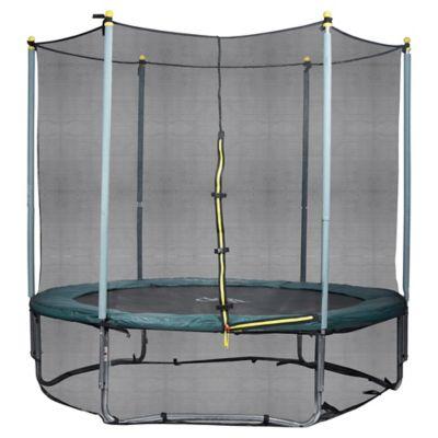 Trampolim 4,2m com Tela de Proteção Superior e Inferior  Preto e Verde