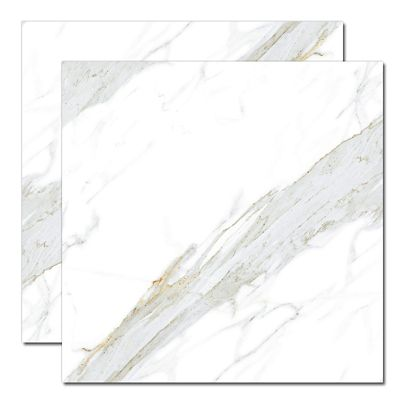 Porcelanato Polido Calacata Lux 82x82cm Caixa 2,00m² Branco