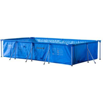Piscina Estruturada Retangular 300x201x66cm 3300L Azul