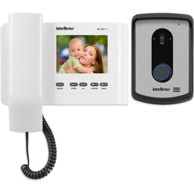 Interfone Video Porteiro IV4010 HS Branco