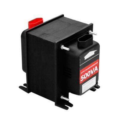 """Autotransformador Com Protetor Térmico 500Va 350W - 110V<->220V Para Tv 29"""", Circulador De Ar(Grande), Faca Elétrica, Liquidificador e Geladeira(1 Porta)."""