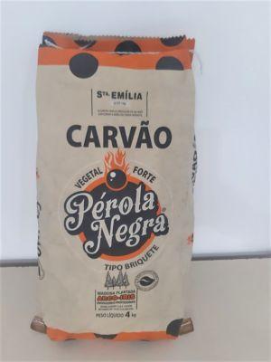 Carvão Briquete Pérola Negra 4kg