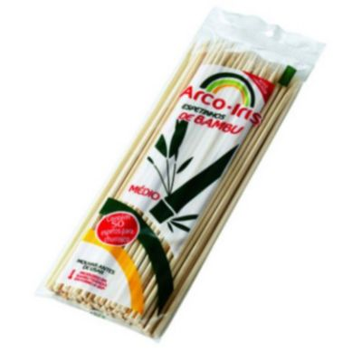 Espeto Bambu Arco Iris com 50 unidades