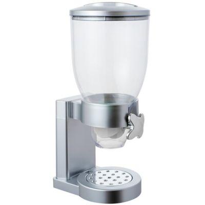 Dispenser Porta Cereais Simples 34x17x20cm Cinza