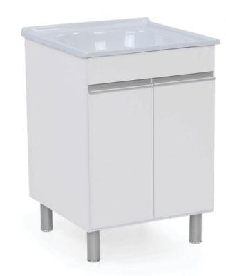 Armário para Lavanderia Amélia 61,5x61cm 2 Portas Branco