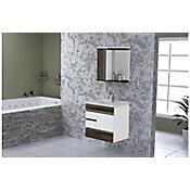 Gabinete de Banheiro Modena 2 Gavetas e Gavetão Castaine 59,5cm