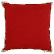 Almofada Yute 50x50cm Vermelho