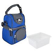 Bolsa Térmica com Recipiente Plástico 6L Azul