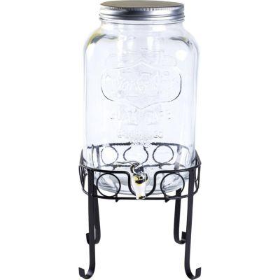 Dispenser para Liquidos de Vidro com Suporte 8L Transparente