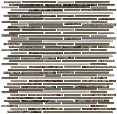 Mosaico Line Bw Bold 29,8x31,8cm Marrom