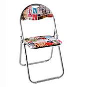 Cadeira Dobrável Metal Paris Colorido