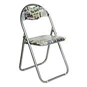 Cadeira Dobrável Jornal Metal Colorido