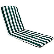 Almofada para Espreguiçadeira 3x58x170cm Verde e Branco