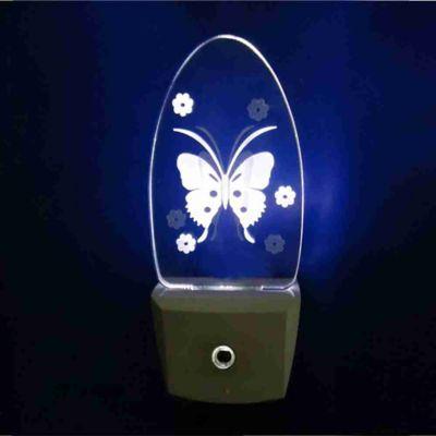 Luz Noturna LED Borboleta Bivolt Branco