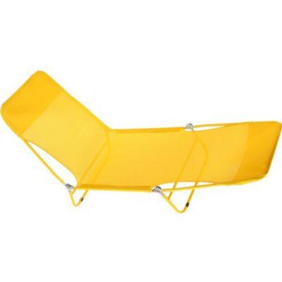 Espreguiçadeira Dobravél de Tecido 23x56x180cm Amarelo
