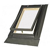 Claraboia para Telhado Vidro Duplo 46x75cm Madeira e Alumínio